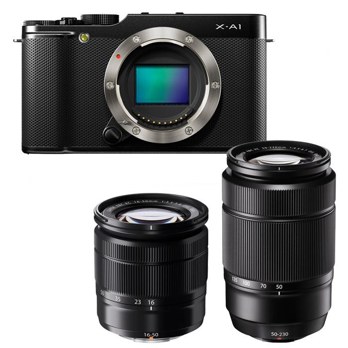 Set Aparat Fujifilm X-A1 me lente XC16-50mm XC50-230mm