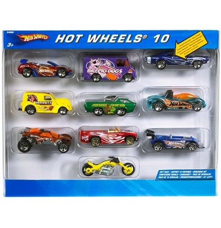 Set me 10 makina Hot Wheels
