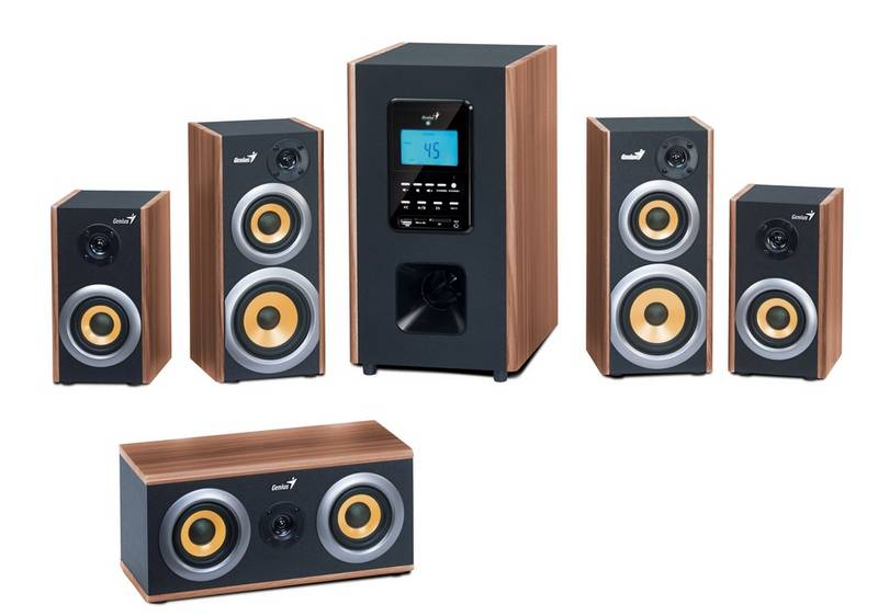 Sistem Audio Genius 5.1 Wood 6000