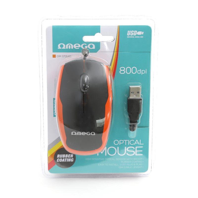 Mouse optik Omega Black-Orange