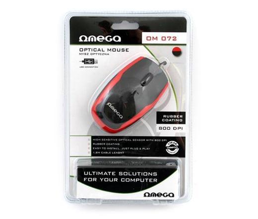 Mouse optik Omega Black-Red