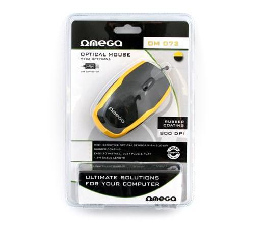Mouse optik Omega Black-Yellow