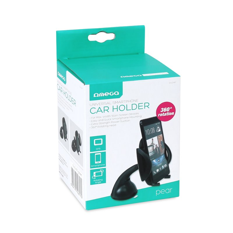 Mbajtese Smartphon per Makine Omega Pear Black