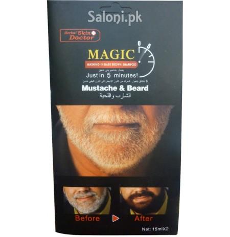 Shampo per ngjyrosjen e mjekres dhe mustaqeve