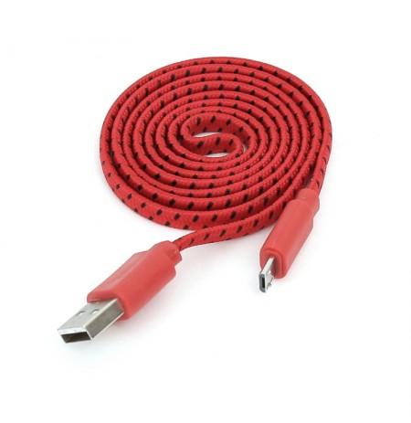 Kabllo Omega Fabric Red USB-MicroUSB