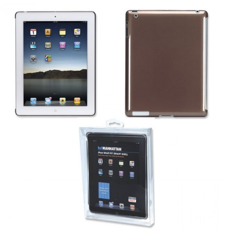 Cover iPad 2 snap-fit smoke Manhattan