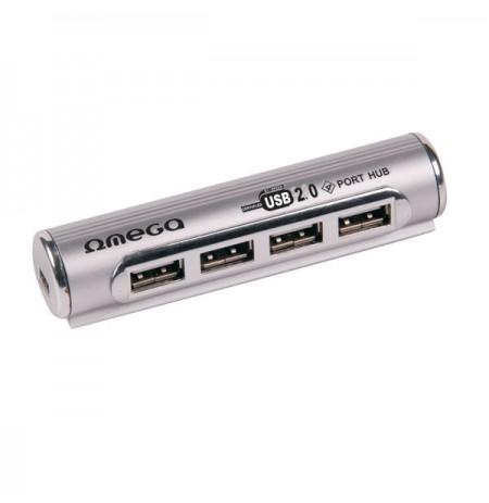 HUB USB 2.0 Omega me 4 porta Pipe